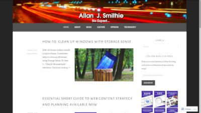 Allan J. Smithie homepage
